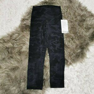 "Lululemon Align High Rise Crop 21"" Incognito Camo"